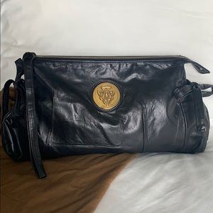 Gucci large Hysteria leather clutch